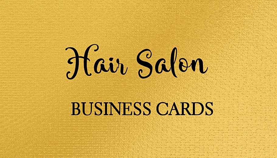HAIR AND BEAUTY BUSINESS CARDS