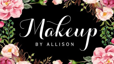 Makeup Artist Modern Script Girly Floral Wrapping Business Cards