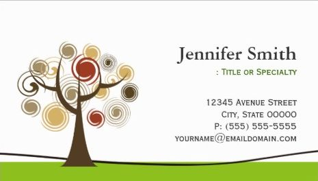 Elegant Tree of Life Symbol Appointment Reminder Business Cards