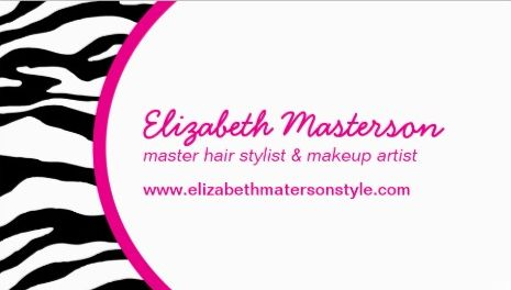 Stylish Pink and Black Zebra Print Appointment Reminder Business Cards