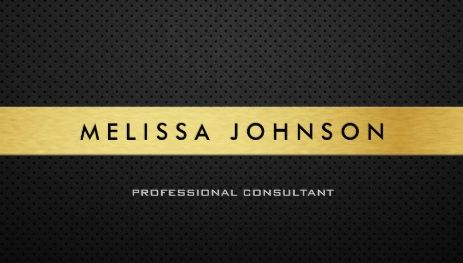Simple Professional Elegant Modern Black and Gold Stripe Business Cards