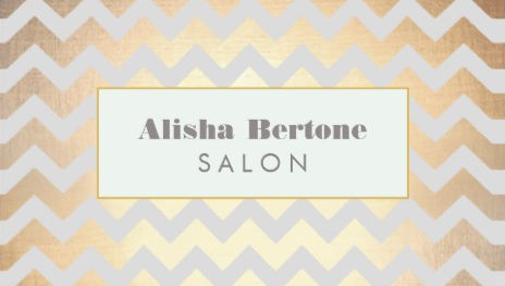 Glamorous Faux Gold Chevron Pattern Salon And Spa Business Cards