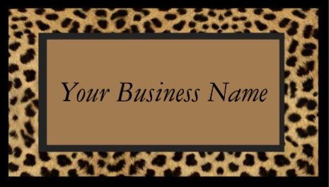 Sophisticated Brown Animal Print Wild Cat Cheetah Fur Print Business Cards