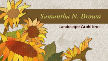 Girly florist and landscaping business cards girly business cards unique autumn sunflowers landscape architect business cards colourmoves