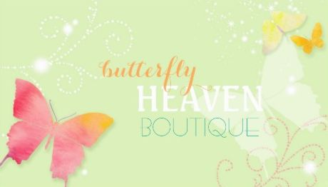 Dreamy Butterfly Whimsical Fashion Boutique Business Cards