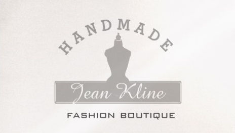Dress Form Mannequin Pearl Paper Fashion Boutique Business Cards