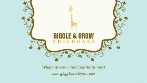 GIRLY CHILD CARE AND BABY SITTING BUSINESS CARDS Girly Business