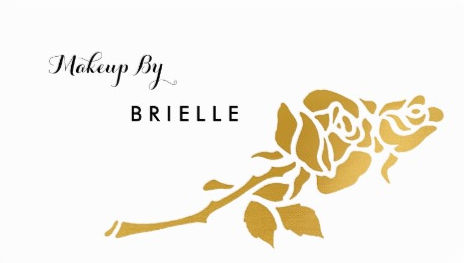 Elegant White and Gold Foil Rose Makeup Artist Business Cards