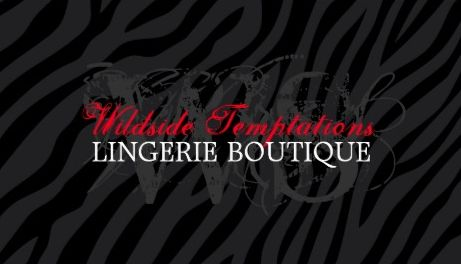 Modern Black on Black Zebra Print Grunge Lingerie Boutique Business Cards