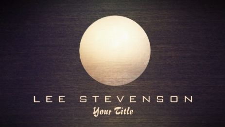 Elegant Gold Circle Sphere Wood Look Simple Modern Business Cards