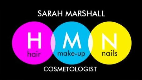 Pop of Color Pink Blue Yellow Circle Dots Cosmetologist Business Cards