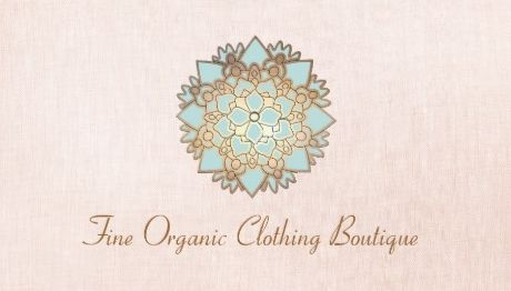 Lotus Fashion Gold and Mint Boutique Pink Linen Business Cards