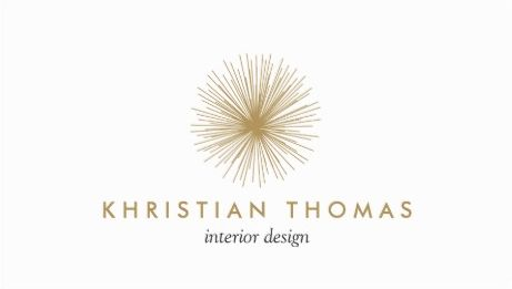 Vintage White And Gold Logo Modernist Interior Designer Business Cards