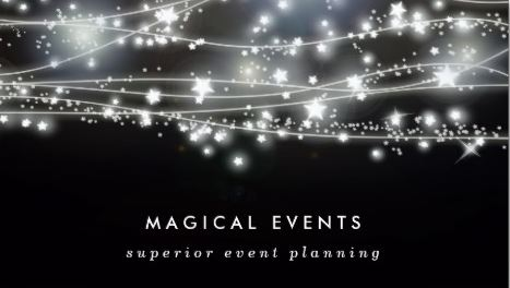 Y Event Planning Business Cards