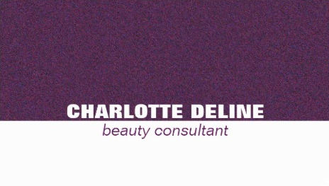 Simple Purple and White Modern Beauty Consultant Business Cards