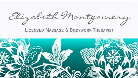 Teal Floral White Flowers Modern Appointment Reminder Business Cards