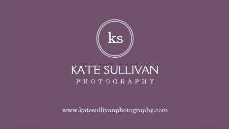 Simple Monogram Circle Plum Purple Photography Business Cards