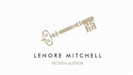 Simple Elegant Skeleton Key Logo Fiction Author Business Cards