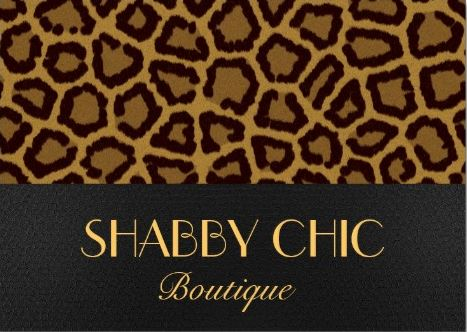 Classy Chic Brown Leopard Print Animal Pattern Boutique Business Cards