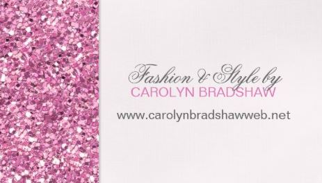 Glitz and Glam Pink Faux Glitter Pattern Fashion and Style Business Cards