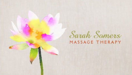 Girly massage therapy business cards girly business cards white lotus holistic alternative health spa massage business cards colourmoves