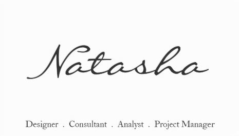Elegant Black and White Script Font Template Business Cards