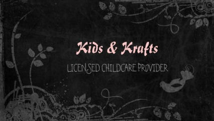 Licensed Childcare Provider Cute Floral Blackboard Business Cards