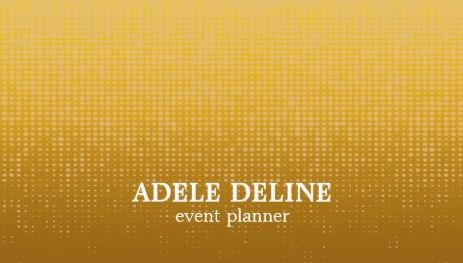 Unique Digital Elegant Gold Pattern Event Planner Business Cards