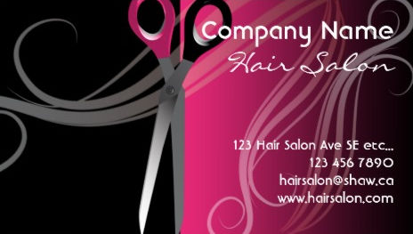 Girly Hair Salon Business Cards - Page 1 - Girly Business Cards