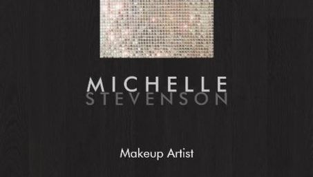 Elegant Makeup Artist Modern Stylish Faux Sequin Black Business Cards