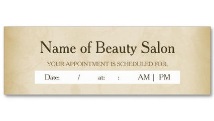 Simple Gold Grunge Hair Salon Appointment Reminder Thin Business Cards
