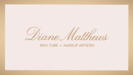 Light Pink Simple Rose Gold Border Skin Care Spa Business Cards
