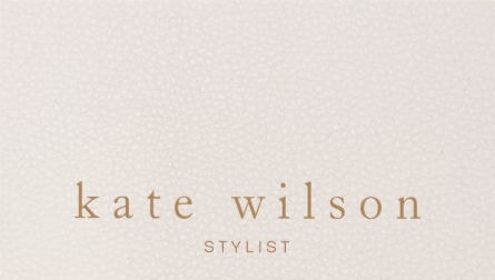 Modern Minimalist Blush Pink Leather Professional Business Cards