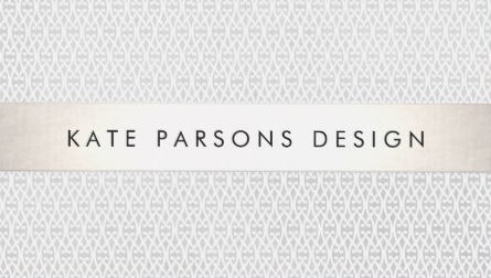 Elegant Chic Designer Silver Striped Pattern Business Cards