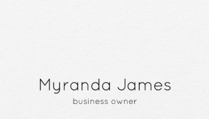 Modern Plain White and Black Simple Minimalist Business Card