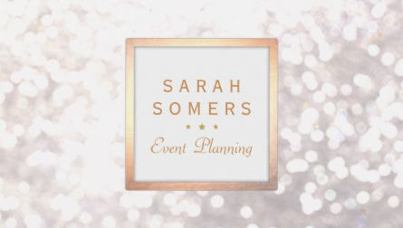 Glamourous glitz and glitter business cards girly business cards whimsical white glitter bokeh elegant gold frame business cards colourmoves