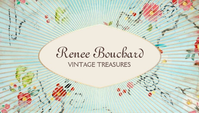 Girly antiques and collectibles business cards girly business cards shabby vintage treasures floral designer consignment shop business cards reheart Gallery