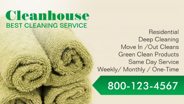 Girly cleaning services business cards page 1 girly business cards professional house cleaning services fresh green towels business cards colourmoves